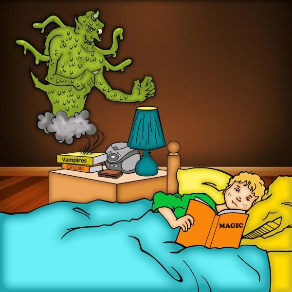 Demons haunt Caleb at night