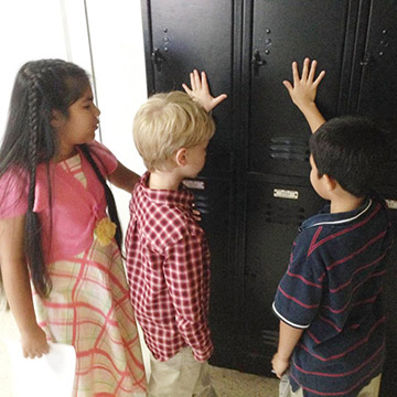 public school Bible club lockers