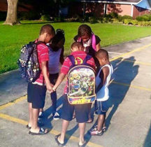 public school bible club praying