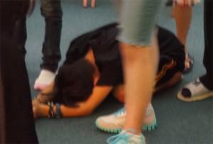 john on floor